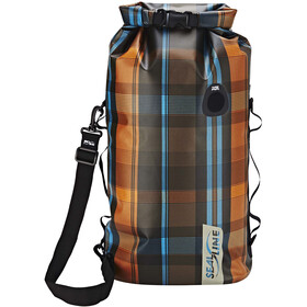 SealLine Discovery Deck Dry Bag 30l, olive plaid